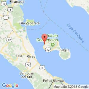 Localización de Moyogalpa en Rivas
