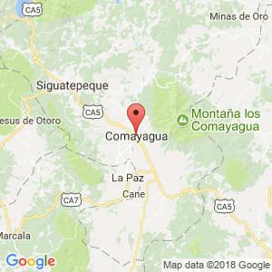 Localización de Comayagua en Comayagua