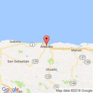 Localización de Arecibo en Arecibo
