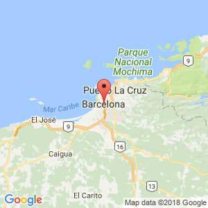 Localización de Barcelona en Anzoátegui