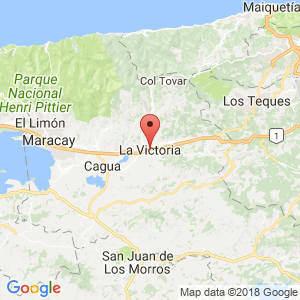 Localización de La Victoria en Aragua