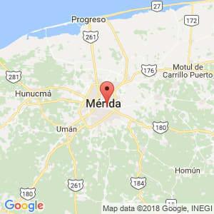 Localización de Mérida en Yucatán