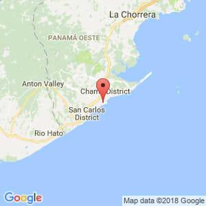 Localización de Coronado en Panamá