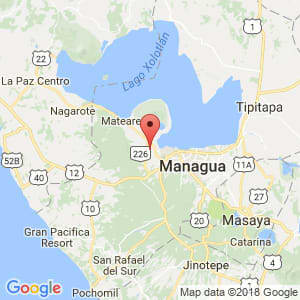 Localización de Ciudad Sandino en Managua