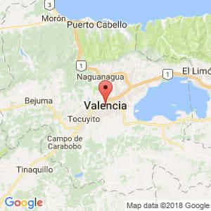 Localización de Valencia en Carabobo