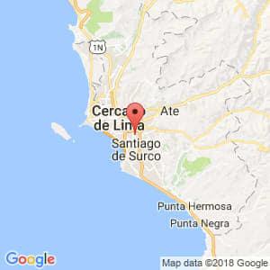 Localización de San Borja en Lima Provincias