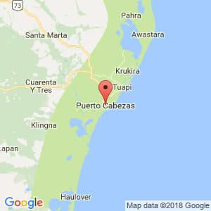 Localización de Puerto Cabezas en Atlántico Norte
