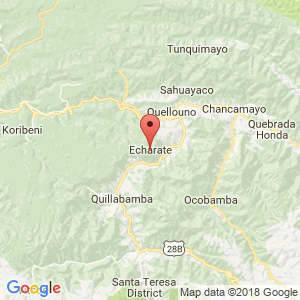 Localización de Echarate en Cuzco