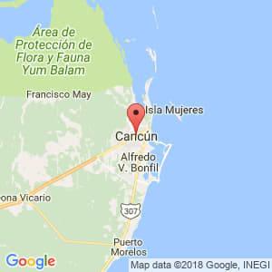 Localización de Cancún en Quintana Roo