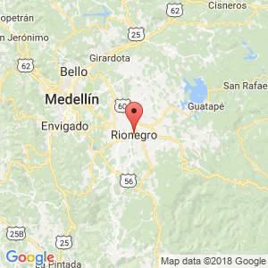 Localización de Rionegro en Antioquia