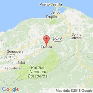 Localización de Tocoa en Colón