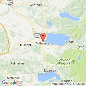 Localización de Villarrica en La Araucanía