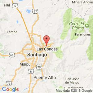 Localización de Vitacura en Metropolitana de Santiago