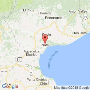 Localización de Natá en Coclé