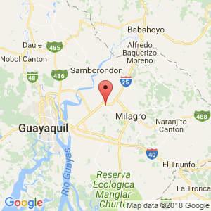 Localización de Yaguachi en Guayas