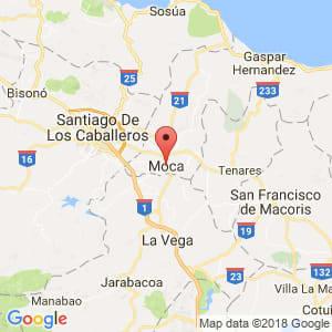 Localización de Moca en Espaillat