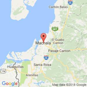Localización de Machala en El Oro