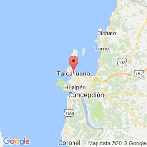 Localización de Talcahuano en Biobío