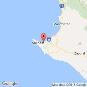 Localización de La Libertad en Santa Elena