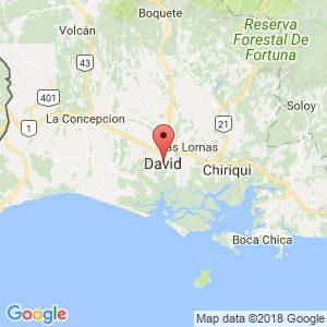 Localización de David en Chiriquí