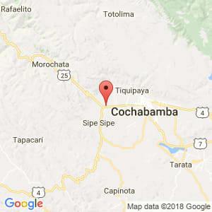 Localización de Vinto en Cochabamba