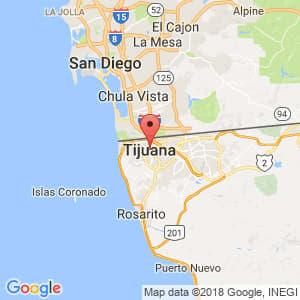 Localización de Tijuana en Baja California
