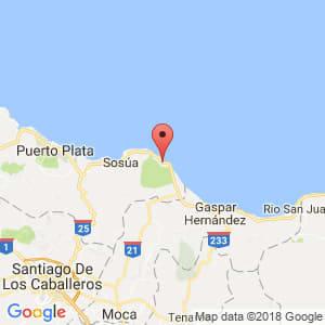 Localización de Cabarete en Puerto Plata