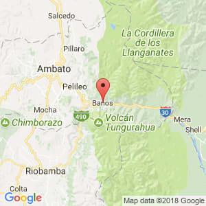 Localización de Baños en Tungurahua