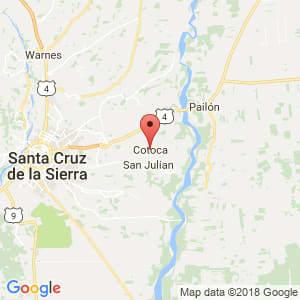 Localización de Cotoca en Santa Cruz
