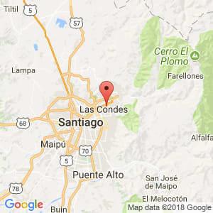 Localización de Las Condes en Metropolitana de Santiago