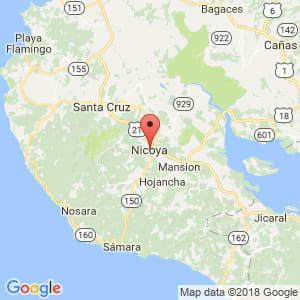 Localización de Nicoya en Guanacaste
