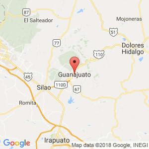 Localización de Guanajuato en Guanajuato
