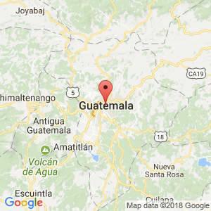 Localización de Ciudad de Guatemala en Guatemala
