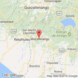 Localización de Mazatenango en Suchitepéquez