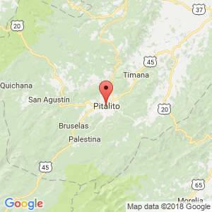 Localización de Pitalito en Huila