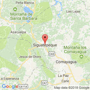 Localización de Siguatepeque en Comayagua