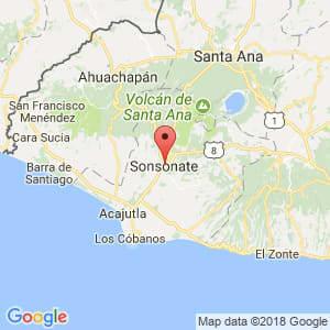 Localización de Sonsonate en Sonsonate