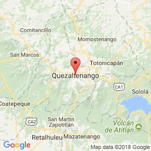 Localización de Quetzaltenango en Quetzaltenango