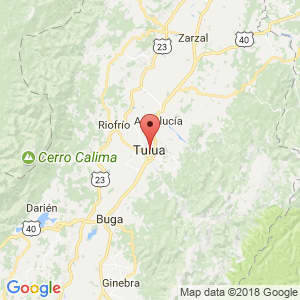 Localización de Tulua en Valle del Cauca