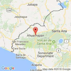Localización de Ahuachapán en Ahuachapán