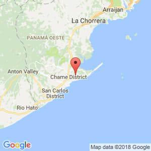 Localización de Chame en Panamá Oeste