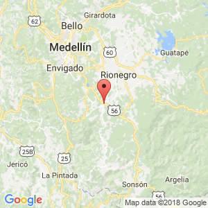Localización de La Ceja en Antioquia