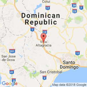 Localización de Villa Altagracia en San Cristóbal