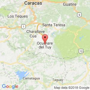 Localización de Ocumare del Tuy en Miranda