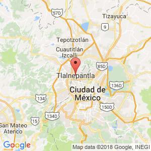 Localización de Tlalnepantla de Baz en México