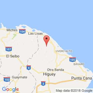 Localización de Lagunas de Nisibón en La Altagracia