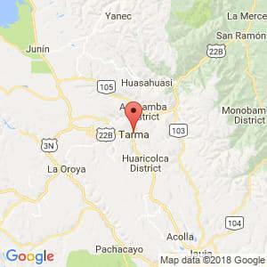 Localización de Tarma en Junín