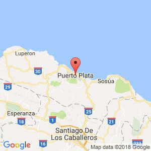 Localización de Puerto Plata en Puerto Plata