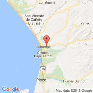 Localización de Chincha Alta en Ica