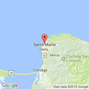 Localización de Santa Marta en Magdalena